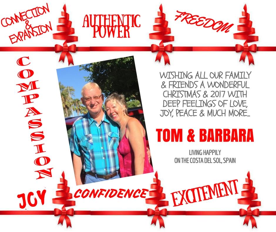 Merry Christmas Love Tom and Barbara Franken